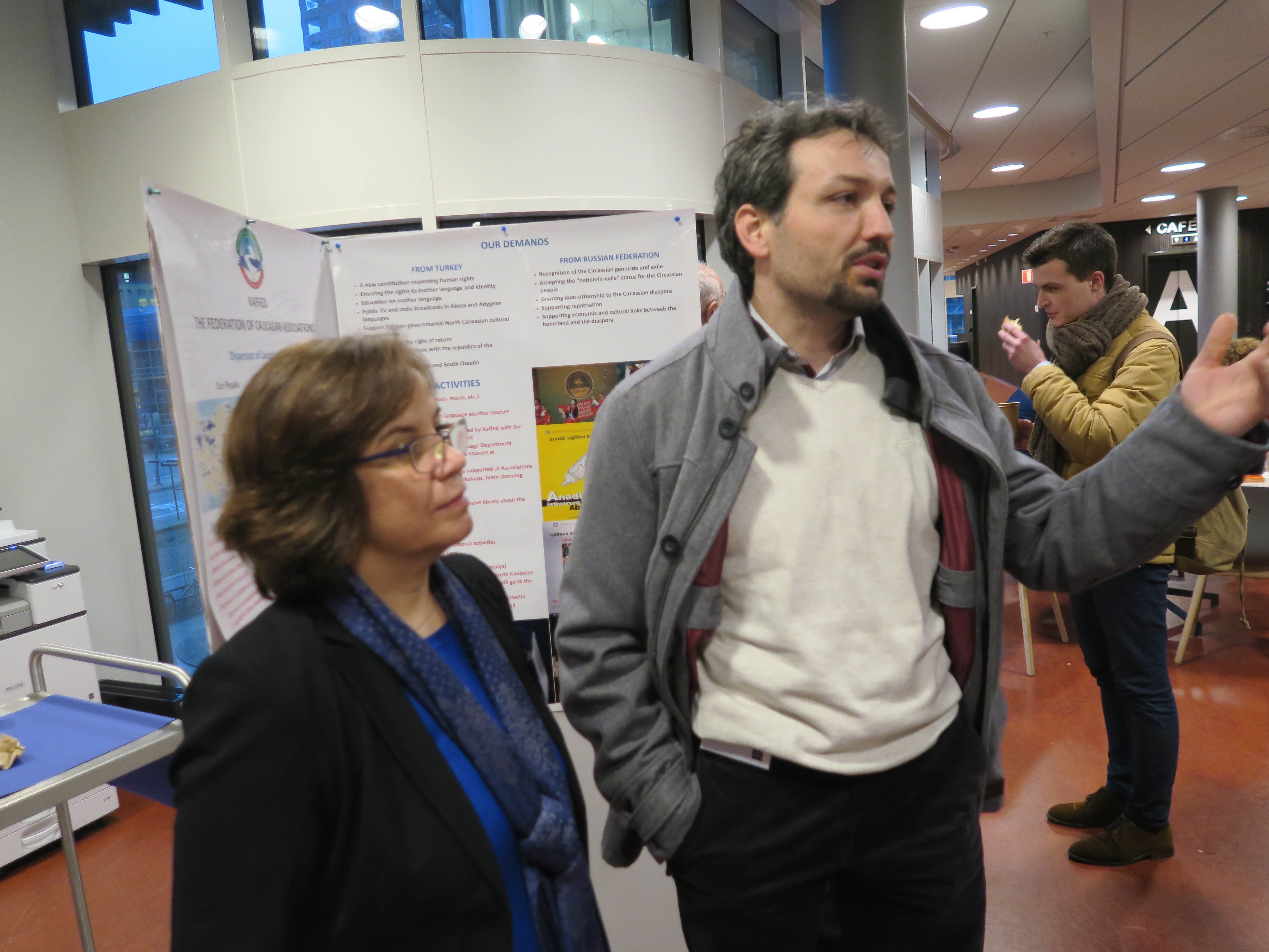 Poster session at the Circassian conference
